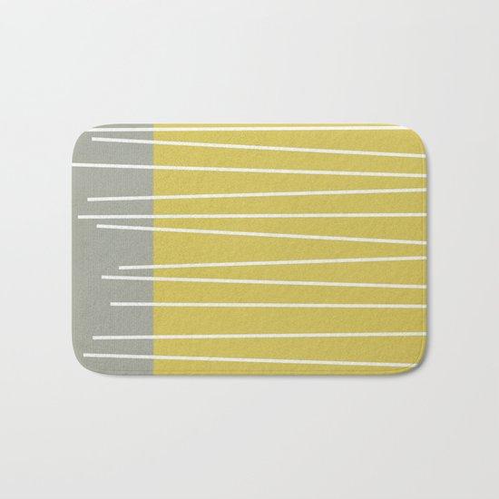 MId century modern textured stripes Bath Mat