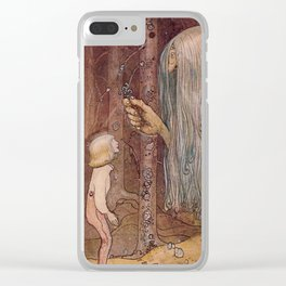 """The Troll Herb"" John Bauer Watercolor Clear iPhone Case"