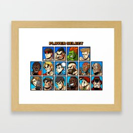 Street Fighter Player Select Framed Art Print