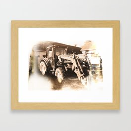 Trusty Rusty Tractor Framed Art Print