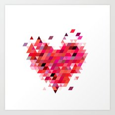 Heart1 Red Art Print