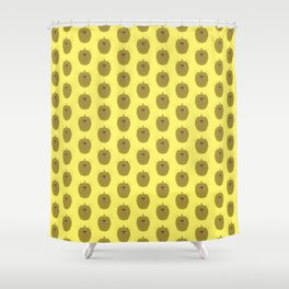 Happy Pixel Durian Shower Curtain