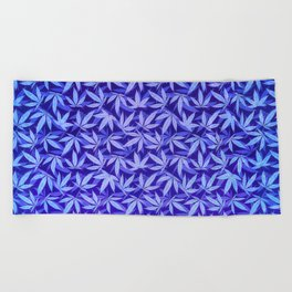 Purple Haze - Cannabis / Hemp / 420 / Marijuana  - Pattern Beach Towel