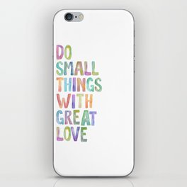 Do Small Things With Great Love, Mother Teresa Print, Mother Teresa Quote, Floral Quotes Wall Art, I iPhone Skin