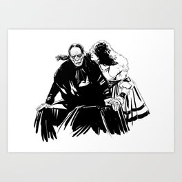 The end of the ghosts love story Art Print