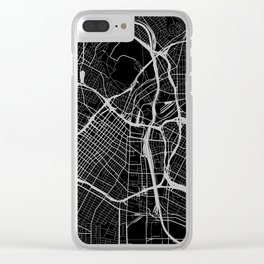 Street MAP Los Angeles // Black&White Clear iPhone Case