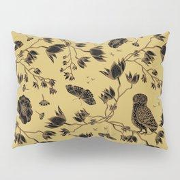 Orchid Owl Yellow Pillow Sham