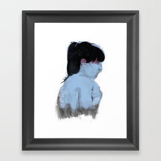 Fall Over, Spring Back Framed Art Print