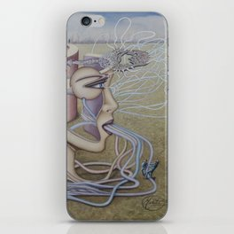 Surreal Head Structure Walking Path iPhone Skin