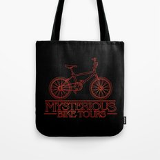 Mysterious Bike Tours Tote Bag