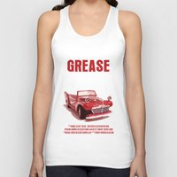 grease Tank Tops featuring Grease Movie Poster by FunnyFaceArt
