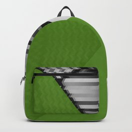 Black White and Grassy Green Backpack