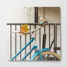 Brooklyn in October - Bicycle Photography Metal Print