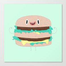 Burger man Canvas Print
