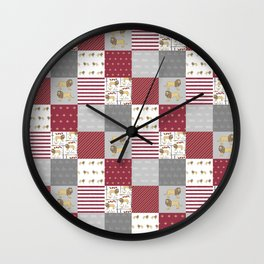 Lion House cheater quilt patchwork wizarding witches and wizards Wall Clock