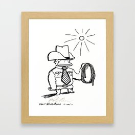 Cowboy Ape with Giant Tie Framed Art Print
