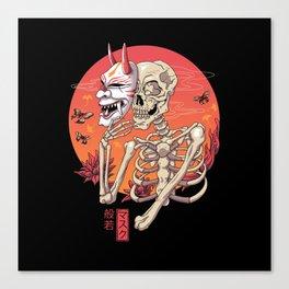 Hannya Spirit Mask Canvas Print