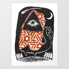 Nocturnal Ned Art Print