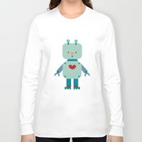 robot Long Sleeve T-shirts featuring Robot by Milanesa
