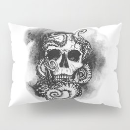 Skull and Octopus Together Forever by annmariescreations Pillow Sham