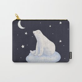 white bear on the cloud Carry-All Pouch