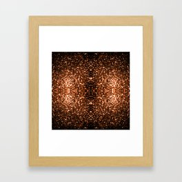 Beautiful Bronze Orange Brown glitters sparkles Framed Art Print