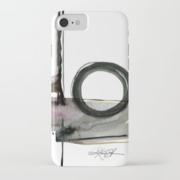 Enso Abstraction No. 112 by Kathy morton Stanion iPhone Case