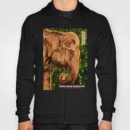 Sumatran Elephant - Black Hoody
