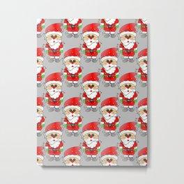 Whimsical Santas Metal Print