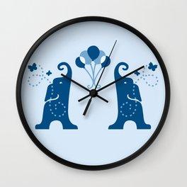 Elephants Fly Kites Wall Clock