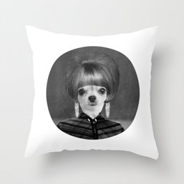 Lola in the 60's Throw Pillow