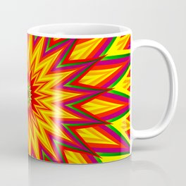 Fractal Sunflower Colorful Abstract Floral Art II Coffee Mug