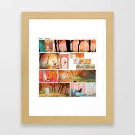 Spirit of the Staircase: Sticks and Stones Framed Art Print