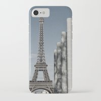 eiffel tower iPhone & iPod Cases featuring Eiffel Tower by Sébastien BOUVIER
