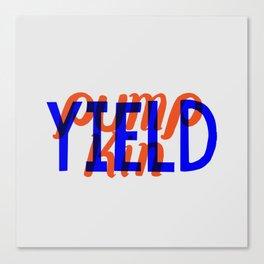 Yield, Pumpkin Canvas Print