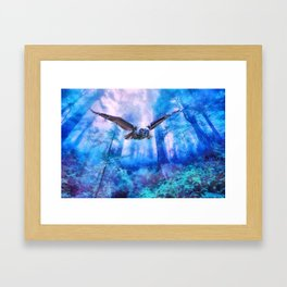 Owl flight Framed Art Print