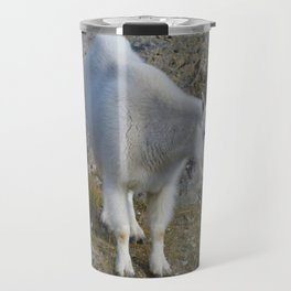 Mountain goat in the Canadian Rocky Mountains Travel Mug
