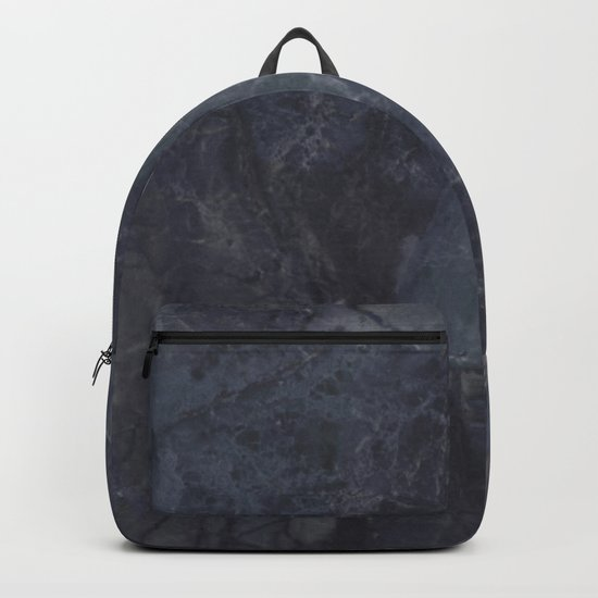 Navy Blue Marble Backpack