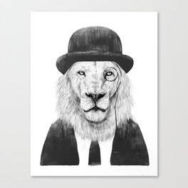 Sir lion Canvas Print