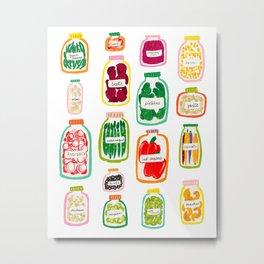 Jars of Fruit & Veg Metal Print