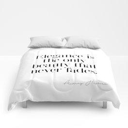 Elegance by Audrey Hepburn Comforters