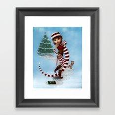 Santas Little Helper Framed Art Print