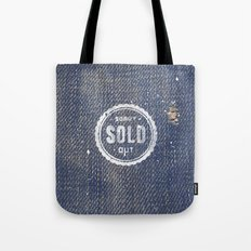 Blue Denim Jeans Texture Cool Fashion Fabric Print Tote Bag