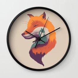 Foxy Breeze Wall Clock