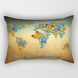 map Rectangular Pillow