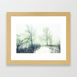 The wintry unknown Framed Art Print
