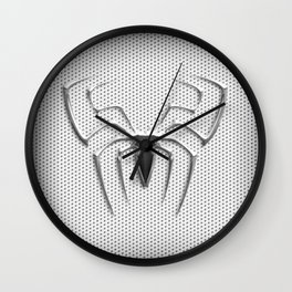 Spider Steel Chrome Wall Clock