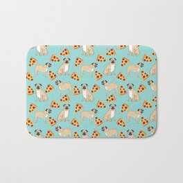 Pug Pizza Party cute pug dog owner gifts food pet gifts puggle puppy dog pet portrait trendy  Bath Mat