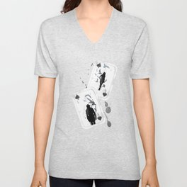 A PAIR OF CROWS - SET 01 Unisex V-Neck