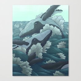 Happy Whales Canvas Print